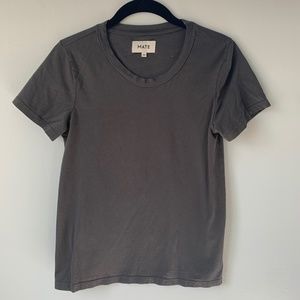 MATE The Label Classic Crew Tee in Charcoal